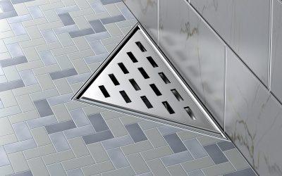 Triangular drain