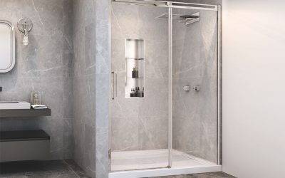 Stainless steel niches with shelves